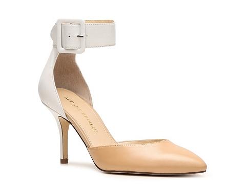 Pantofi Audrey Brooke - Hylda Color Block Pump - Beige/White