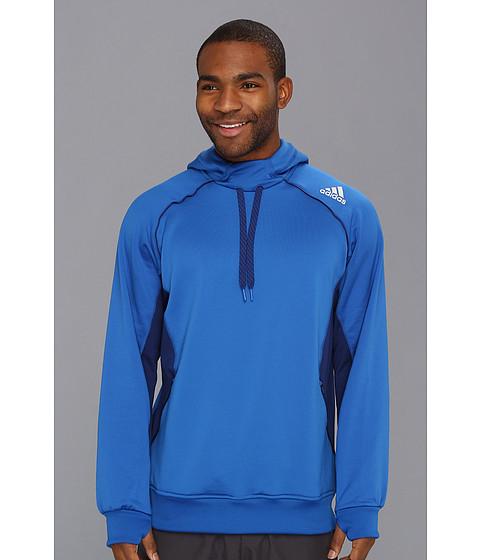 Bluze adidas - CLIMAWARMÃ'®+ Fleece Pullover Hoodie - Blue Beauty/Dark Onix
