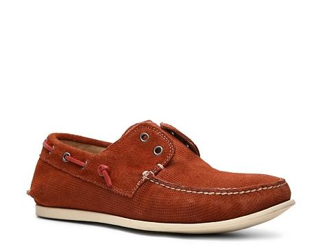 Pantofi John Varvatos - U.S.A. Schooner Boat Shoe - Red