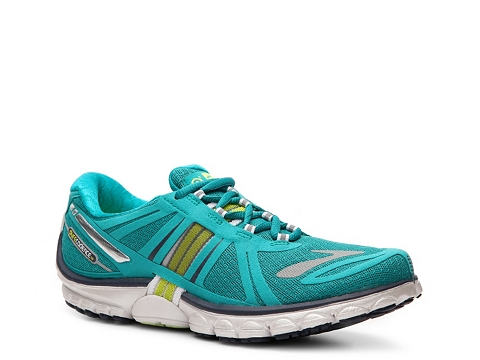 Adidasi Brooks - PureCadence 2 Lightweight Running Shoe - Womens - Teal Blue/Lime Green/Grey/White