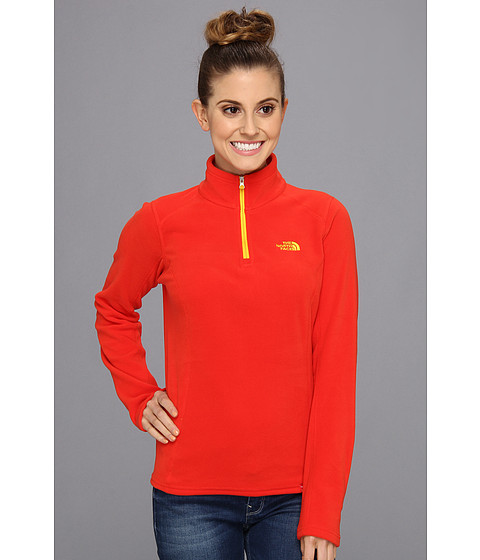 Bluze The North Face - International TKA 100 Glacier 1/4 Zip - China/Majestic Red