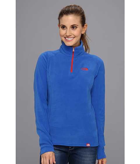 Bluze The North Face - International TKA 100 Glacier 1/4 Zip - Russia/Nautical Blue