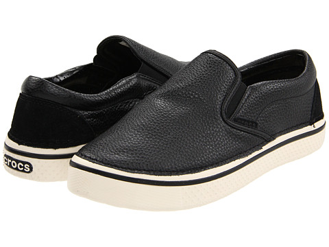 Adidasi Crocs - Hover Slip On Leather - Black/Stucco