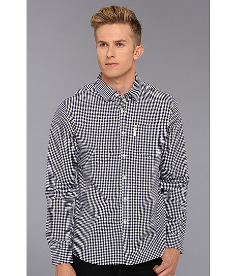 Camasi ECKO - Mini Gingham L/S Woven - True Navy