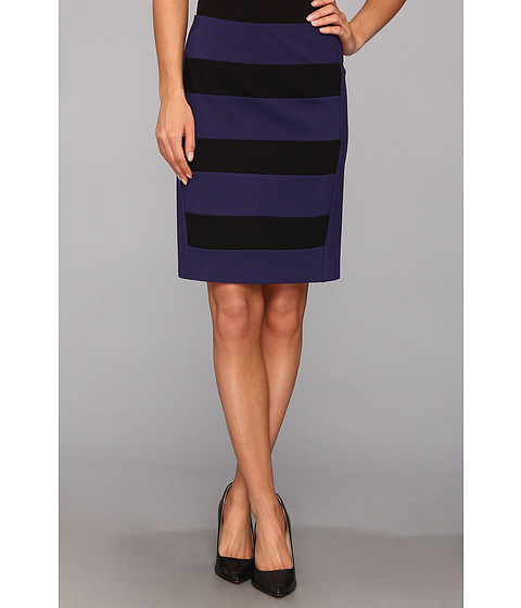 Fuste DKNY - Pull-On Color Block Skirt - Astral Blue