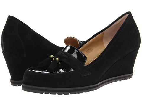 Pantofi Isaac Mizrahi New York - Naples - Black Suede/Croco