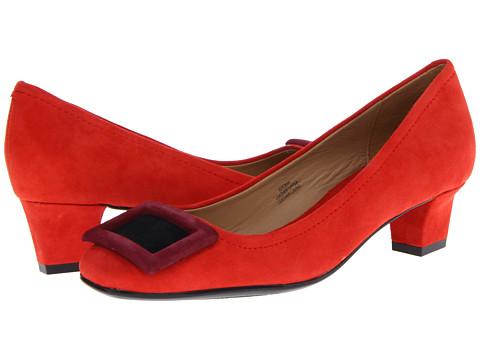 Pantofi Isaac Mizrahi New York - Perry - Red Multi Suede
