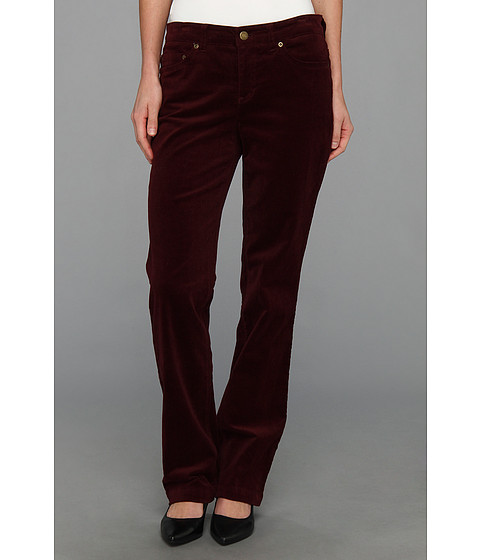 Pantaloni Jones New York - Lean Bootcut Pant - Wine Berry
