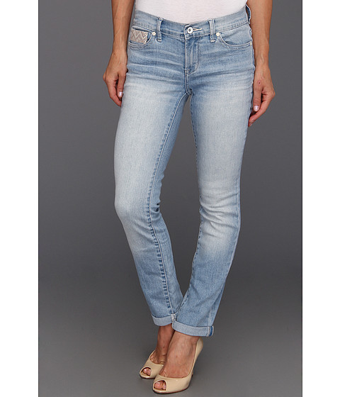Blugi Calvin Klein Jeans - Petite Ultimate Skinny Ankle Roll w/ Embroidery in Light Wash - Light Wash