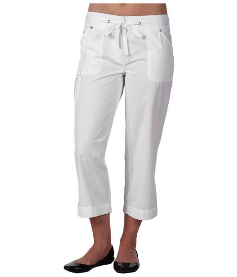 Pantaloni Jones New York - Petite Twill Tape Crop Cargo Pant - White