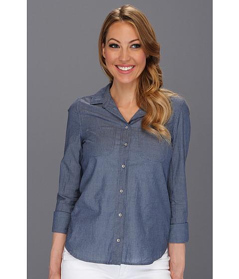Bluze Calvin Klein Jeans - Petite Fitted Denim Shirt in Indigo Dot - Indigo Dot