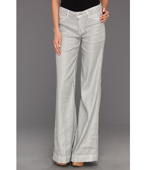 Pantaloni Hudson - Gwen Mid-Rise Wide Leg Linen Pant - Grey Linen