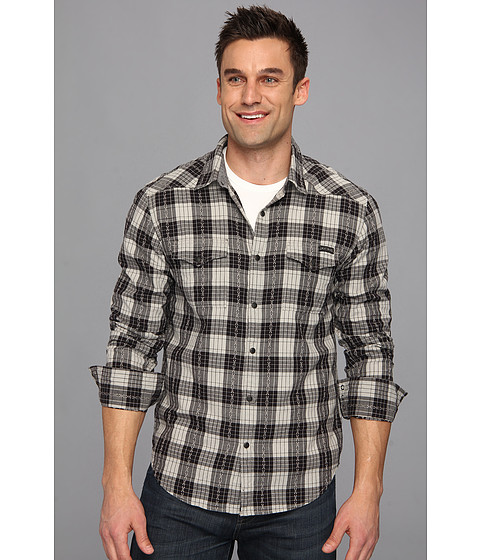 Camasi Lucky Brand - Boundary Plaid Western - Black/Grey