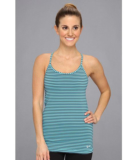Bluze Nike - Stripe Favorites Tank - Dark Armory Blue/Gamma Blue/White