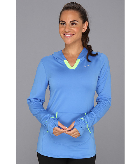 Bluze Nike - Element Hoodie - Distance Blue/Flash Lime/Reflective Silver
