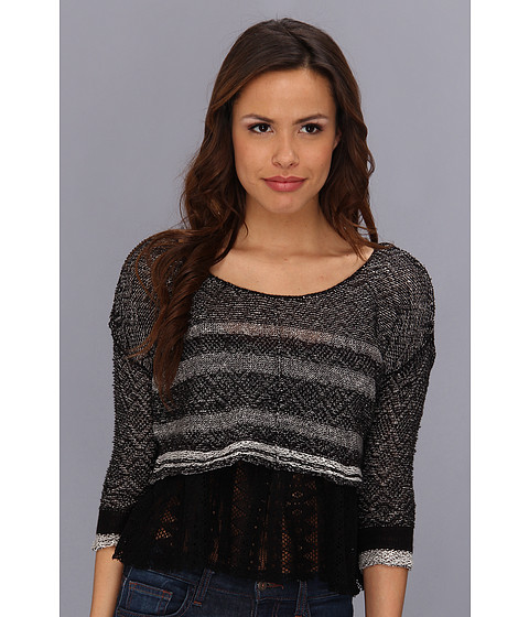 Bluze Free People - Take Charge Twofer Pullover - Black/White Combo