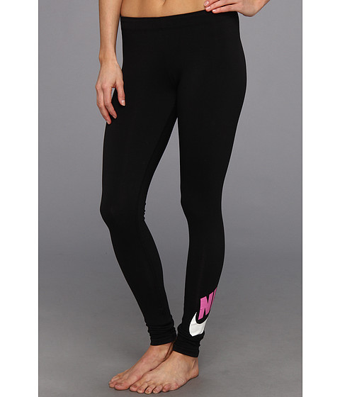 Pantaloni Nike - Leg-A-See Logo Legging - Black/Red Violet