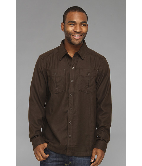Camasi Mountain Hardwear - Solid Flannel Twill Shirt - Cordovan
