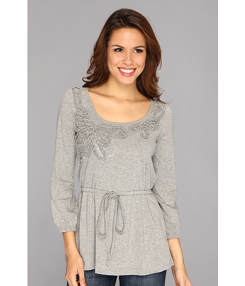 Bluze Roper - Heather Greay Tunic W/Embellishment - Grey