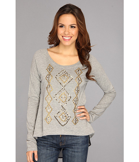 Bluze Roper - Slouchy Cotton Jersey W/Georgette - Grey