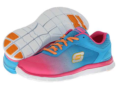 Adidasi SKECHERS - Flex Appeal - Style Icon - Hot Pink/Blue
