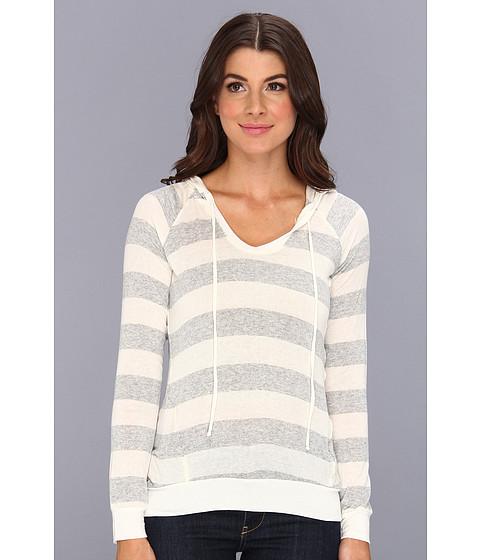 Bluze Splendid - Striped Drapey Lux Hoodie - Heather Grey
