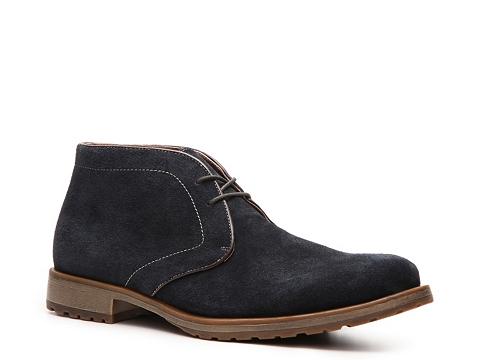 Pantofi Aston Grey - Rounder Chukka Boot - Navy Blue
