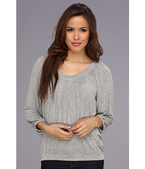 Bluze Free People - Moss Solid Top - Grey Heather