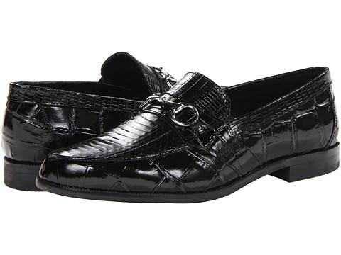 Pantofi Stacy Adams - Servino - Black Genuine Snake Skin w/ Corcodile/Lizard Print