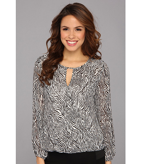 Bluze Vince Camuto - L/S Wrap Front Zebra Blouse - Light Cream