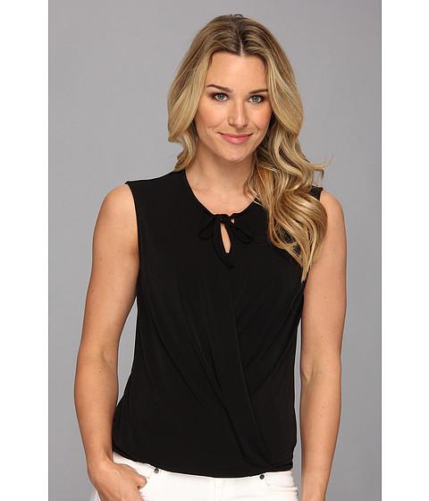 Bluze Anne Klein New York - S/L Tie Front Top -  Black