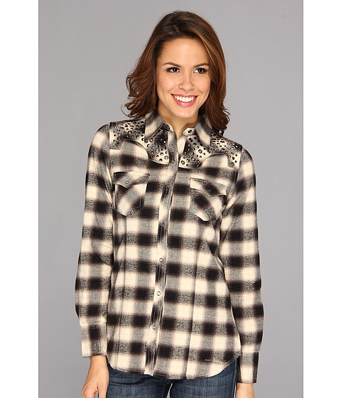 Camasi Stetson - 8906 Deco Omber Plaid L/S Shirt - Grey
