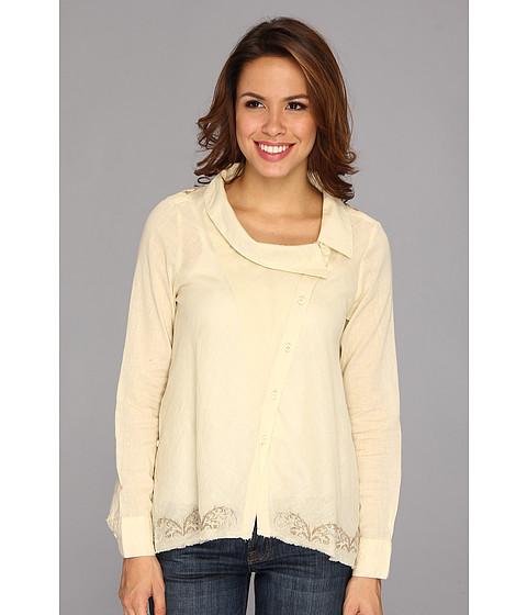 Bluze Stetson - 8905 Batiste L/S Asymmetrical Blouse - White