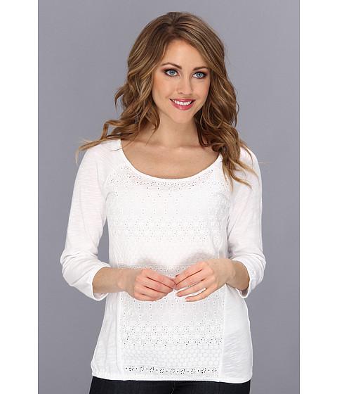 Bluze Lucky Brand - Schiffli Front Raglan Top - Lucky White