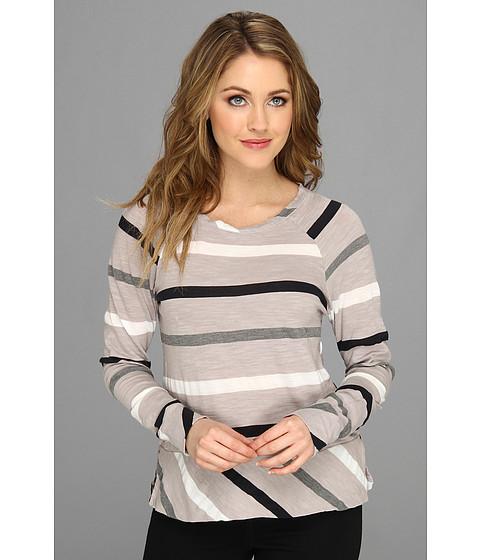 Bluze Michael Stars - Wanderlust Stripe Long Sleeve Raglan Sweatshirt - Abalone