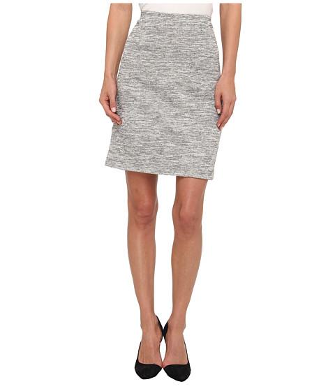 Fuste Tibi - Spring Tweed Knit Tube Skirt - White/Black Multi