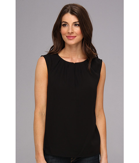 Bluze Nine West - Lightweight Crepe Pintuck Neck Cami - Black