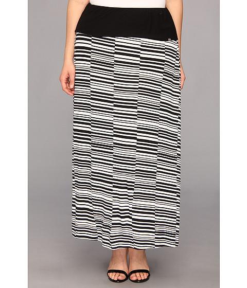 Fuste Calvin Klein - Plus Size Printed Maxi Skirt W3KG6839 - Black/White