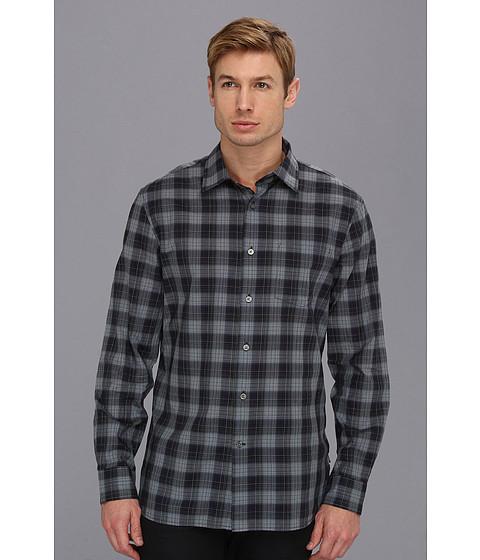 Camasi John Varvatos - Slim Fit Blue Plaid Sport Shirt - Navy