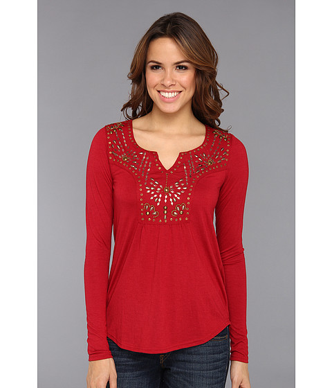 Bluze Roper - Viscose Body W/ Metal Sequins - Red