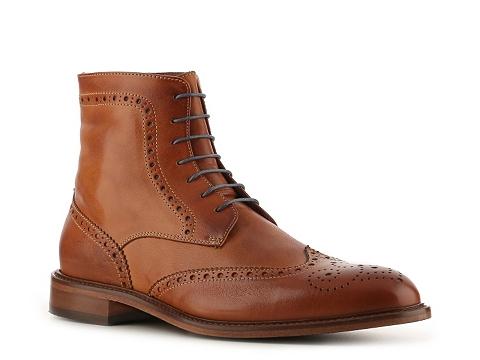 Pantofi Mercanti Fiorentini - Vintage Wingtip Boot - Cognac