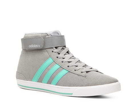 Adidasi adidas - NEO Daily Twist Mid-Top Sneaker - Womens - Grey/Mint Green/Silver