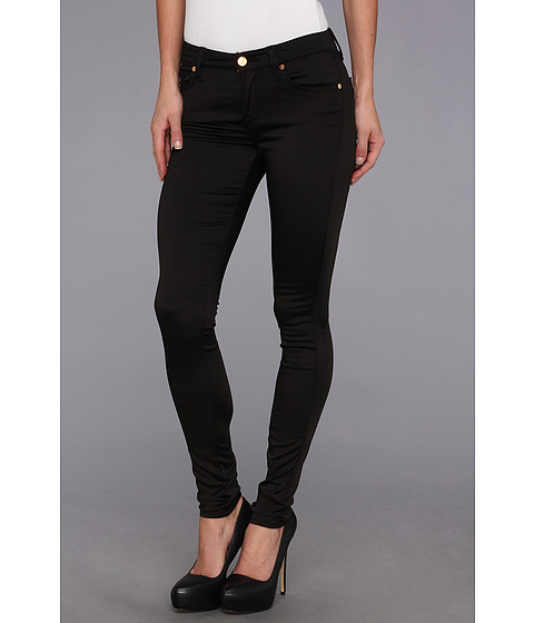 Blugi 7 For All Mankind - The Luxe Sateen Skinny in Black Sateen - Black Sateen