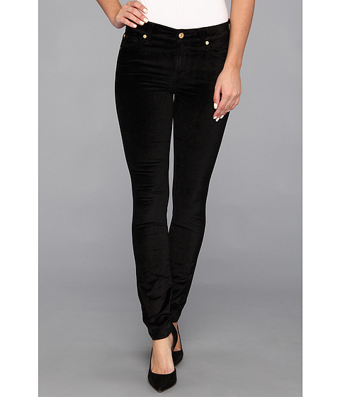 Blugi 7 For All Mankind - The Skinny in Black Velvet - Black Velvet