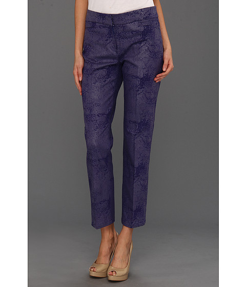 Pantaloni NIC+ZOE - Modern Tribal Shine On Ankle Pant - Blue Sapphire