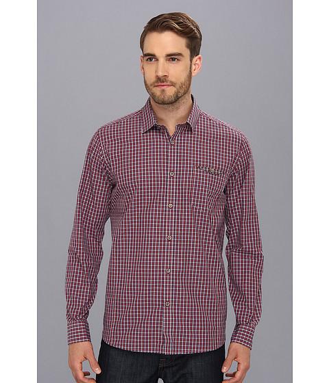 Camasi Ted Baker - L/S Check Shirt - Red