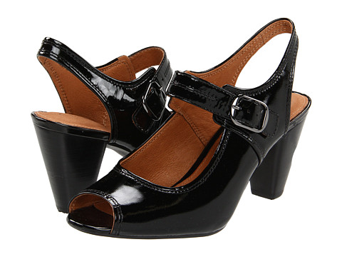 Pantofi Clarks - Piano Capa - Black Patent Leather