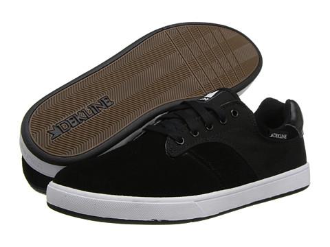 Adidasi Dekline - Dalton - Black/White Suede Canvas