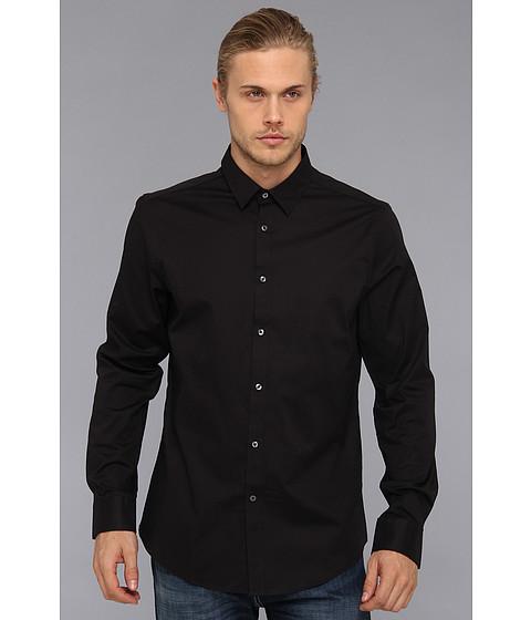 Camasi Ben Sherman - Solid L/S Woven Shirt - Jet Black
