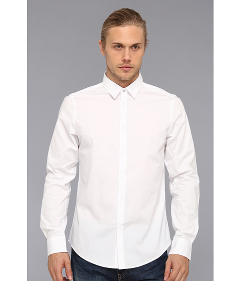Camasi Ben Sherman - Solid L/S Woven Shirt - White